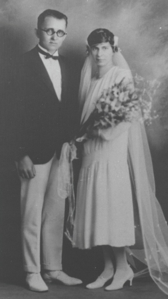Early twentieth-century photo of a newly married man and woman